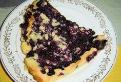 Recept na bleskový borůvkový koláč s drobenkou