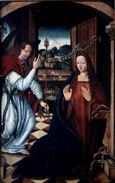 The Annunciation / La Anunciación // ca. 1500 // Bartolomé de Castro // From: Iglesia de San Pablo, Palencia // Museo Lázaro Galdiano // #AveMaria