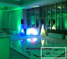 Unique dance floor and decor for a Monopoly-themed event! Event Company, Bat Mitzvah, Corporate Events, Monopoly, Event Design, Toronto, Wedding Decorations, Neon Signs, Floor