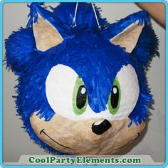 Sonic the hedgehog pinata - We Create Uniquely Detailed Custom Pinatas and Party Products - Cool Party Elements