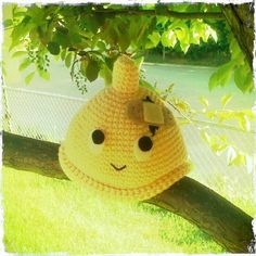 Broken condom knitted baby hat. So wrong! So funny!
