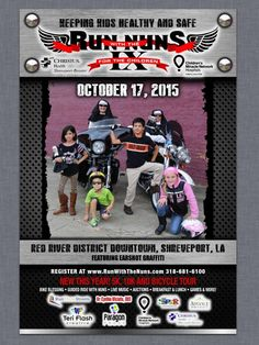 Shreveport, LA - Oct. 17, 2015: Run with the Nuns Motorcycle Rally. All proceeds benefit the health and wellness of children in our community through the 17 signature pediatric outreach programs of CHRISTUS Health Shreveport-Bossier.