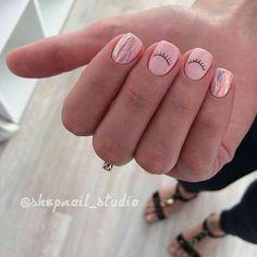 Beach nails, Broken glass nails, Everyday nails, Interesting nails, Original nai… – My CMS Beach Nail Designs, Nail Art Designs, Nails Design, Design Art, Design Ideas, Love Nails, Pretty Nails, Pale Pink Nails, Nagellack Trends