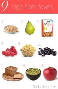 9 yummy high fiber foods.