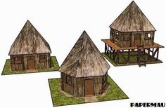 PAPERMAU: Jungle Huts Paper Models For Dioramas, RPG And Wargamesby Papermau - Next Project