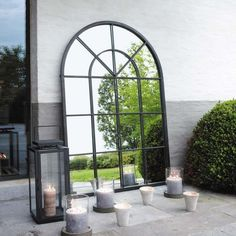 Used Big framed black metal mirror for sale in Miami Beach - Big framed black metal mirror posted by Samantha Navarro in Miami Beach. From a French brand (Maisons du Monde) Excellent condition Dimensions (cm) : x Original price : 199 euros - letgo Maisons Du Monde, Outdoor Mirror, French Arch, Window Mirror, Mirrors For Sale, Metal Mirror, Interior Garden, Tuscan Decorating, Mirror