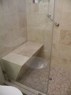 Carissas bathroom shower Ideally, shower stalls should allow room for a shower seat, grab bars, and adjustable shower heads. Description from pinterest.com. I searched for this on bing.com/images