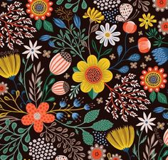 orange you lucky!: strong florals . . .