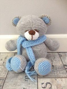 Crochet Bear, Cute Crochet, Crochet For Kids, Tigger, Teddy Bear, Sewing, Knitting, Toys, Pattern