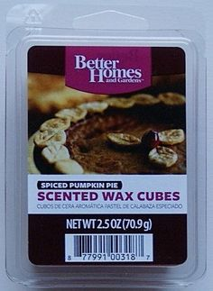 Introducing Better Homes and Gardens Spiced Pumpkin Pie Scented Wax Cubes. Get Your Ladies Products Here and follow us for more updates!