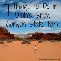 Just a few miles north of St. George, Utah is Snow Canyon State Park. For an incredible outdoor experience check out these 7 things you can do in Snow Canyon. Pin now to read later! National Park Tours, National Parks, State Parks, Utah Snow, St George Utah, Saint George, Snow Canyon State Park, Utah Hikes, Travel Usa