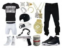 A menswear look from December 2016 featuring mens t shirts, men's regular fit jeans and mens gold watches. Browse and shop related looks. Dope Outfits For Guys, Swag Outfits Men, Stylish Mens Outfits, Nike Outfits, Casual Outfits, Simple Outfits, Look Hip Hop, Teenage Boy Fashion, Tomboy Fashion