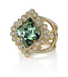 Erica Courtney... Top view of the Empress ring with that amazing tourmaline....
