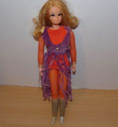 VINTAGE BARBIE LIVE ACTION PJ DOLL ALL ORIGINAL HAIR BEADS & OUTFIT FULL LASHES #Mattel #DollswithClothingAccessories