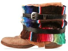 Vintage Mexican Blanket boots