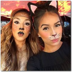 "Gefällt 6,660 Mal, 283 Kommentare - Lily Martinez (@lilylove213) auf Instagram: ""Halloween make-up gone #kissyface #fawn & #kitty @sincerelyjules #blackCat #bambi #lilyloveMakeUp…"""