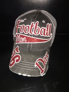 Personalized Football Mom Hat by OutlawSoulDesigns on Etsy