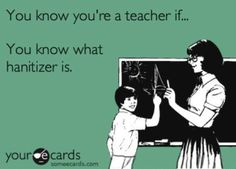 "You know you are a teacher if you know what ""hanitizer"" is!  Great post about how much school supplies your classroom will need for the year!"