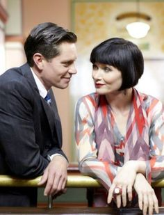 They're so cute. Phryne & Jack ~ Miss Fisher's Murder Mysteries