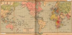 Map Asia - History - Colonialism : World Colonial Possessions 1912 AD - 1918 AD