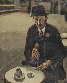 ~ Toon Kelder ~ Dutch artist, 1894-1973: Portrait of the producer A.W. Stellwagen, 1925