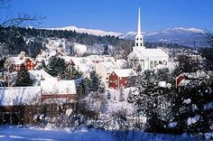 Stowe, Vermont in Winter