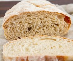 No Knead Ciabatta Bread -- A deliciously airy, crusty homemade ciabatta bread recipe that requires NO kneading. Perfect for toast, sandwiches and more. No Knead Ciabatta Bread Recipe, Sourdough Bread, Dutch Oven Bread, Coconut Flour Pancakes, Recipe Girl, Sandwiches, Bread Rolls, Bread Recipes, Waffles