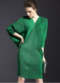 Polyester Solid 1040646/1040646 Sleeves Knee-Length Vintage Dresses (1040646) @ floryday.com