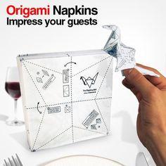 ORIGAMI NAPKINS/折り紙ナプキン/ペーパーナプキン/紙ナプキン/パーティーグッズ お料理が出てくる迄の時間って結構時間を もてあましたりしませんか? そんな時にこんなナプキンがあれば楽しく 暇つぶしが出来るユニークなアイテムです。 折り紙は全部で4種類入っていてツル、 ピエロのブーツ、ポロシャツ、ストレリチア (極楽花鳥)が楽しめます。 ナプキンで折る折り紙は適度なふくらみが あり不思議な立体感があるのでテーブルの アクセントにもなります。  サイズ:約168mm×175mm 重量:250g 内容量:40枚入り スタイル/用途: ペーパーナプキン 紙ナプキン 折り紙 パーティーグッズ