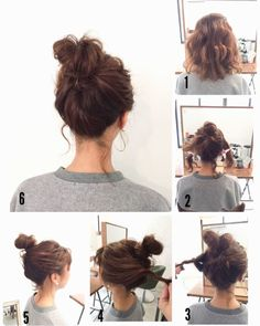 30 Short Ombre Hair Options for Your Cropped Locks in 2019 Short Hair Bun, Very Short Hair, Short Hair Styles Easy, Medium Hair Styles, Curly Hair Styles, Nurse Hairstyles, Work Hairstyles, Hair Arrange, Pinterest Hair