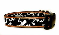 Scary Skeletons dog collar