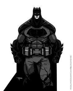 BvS Batman Black and White by 800PoundProductions