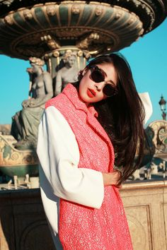 Denni Elias · CHICMUSE.COM Check Coat, Trendy Accessories, Material Girls,  Fall Coats, Red 477fce394b9d
