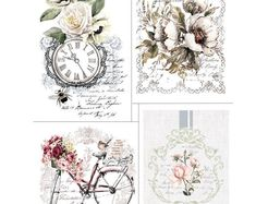 Redesign by Prima, Bike Rides - four designs- Home and Garden Furniture and Wall Rub On Transfer, Decal Transfer, New Release Item by lamoneeboutique on Etsy Shabby Chic Français, Muebles Shabby Chic, Furniture Wax, Garden Furniture, Painting Furniture, Furniture Ideas, Decoupage Furniture, Floral Furniture, Bedroom Furniture
