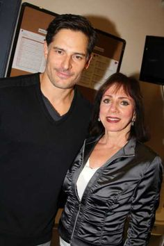 #JoeManganiello and mom Susan Manganiello pose backstage at 'Steetcar Named Desire' at #YaleRepertory Theater on September 29, 2013 in New Haven Connecticut