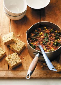 Photo by Matt Armendariz Why We Love This Recipe There's more to this chili than just beans, beans and more beans! Celery, bell peppers, corn and kale add taste, texture and nutrition to this crowd-pleasing vegan chili. About Forks Over Knives Family Forks Over Knives Family: Every Parent's Guide to Raising Healthy, Happy Kids on... Read More »