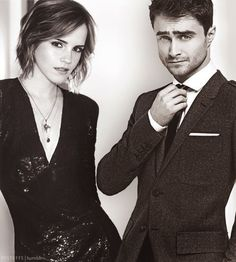 Emma Watson and Daniel Radcliffe (Hermione Granger and Harry Potter)