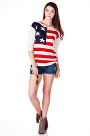 Independence Ave American Flag Sweater #Francesca's