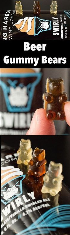 How To Make Beer Gummy Bears - Beer Gummy Bear Recipe (fun cocktails how to make) Alcohol Gummy Bears, Alcohol Candy, Candy Recipes, Snack Recipes, Homemade Gummy Bears, Homemade Gummies, Three Ingredient Recipes, Cooking With Beer, Bear Recipe