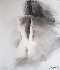 figure drawing large charcoal nude large black and white drawing female drawing female figure inches handmade AlinaLouka Charcoal Art, Charcoal Drawing, Female Drawing, Black And White Drawing, Bedroom Art, Pencil Art, Figure Drawing, Large Black, Nude