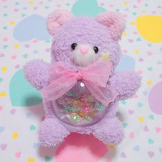 Pastel baby ratal bear Source by Softies, Plushies, Kawaii Plush, Kawaii Room, Girly, Cute Toys, Pink Aesthetic, Magical Girl, Baby Toys