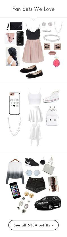 """""""Fan Sets We Love"""" by coutureusa ❤ liked on Polyvore featuring Topshop, Verali, David Yurman, River Island, Michael Kors, Lalique, alfa.K, women's clothing, women and female"""