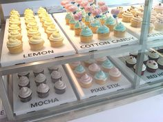 cupcake inspirations! i love the way these are labelled and displayed, and the flavours are so unique!
