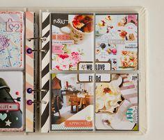 Hello,  Me revoilà aujourd'hui avec une nouvelle mini page de mon project life 2014, tout en couleur...