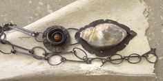 Fossil Druzy Shell Copper Pendant Necklace by annamei on Etsy