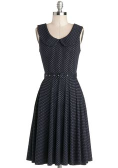 Prairie Nice to See You Dress. The bustling city has you longing for the laid-back quietness of the countryside, so after slipping into this dotted dress, you hop in your roadster and ride out of town. #blue #modcloth