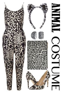 """Purrrfect Leopard Costume"" by prettyorchid22 ❤ liked on Polyvore featuring Whistles, Diane Von Furstenberg, Bling Jewelry, Halloween, 60secondstyle and animalcostume"