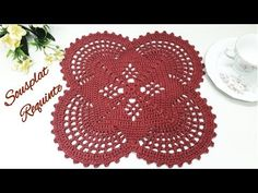 Centro de Mesɑ Requinte /Sousplɑt - YouTube Napkins, Youtube, Nice, Hand Towels, Crochet Instructions, Table Toppers, Needlepoint, Trapper Keeper, Centerpieces