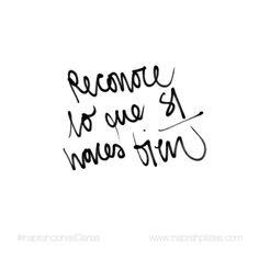 Reconoce lo que SI haces bien.  En Pilates siempre habrá cosas que mejorar.  A la par de ir a más reconoce lo que bien ya te sale.  #InspirahcionesDiarias por @CandiaRaquel  Inspirah mueve y crea la realidad que deseas vivir subscribiéndote gratis a las videoinspirahciones semanales por email en:  http://ift.tt/1LPkaRs
