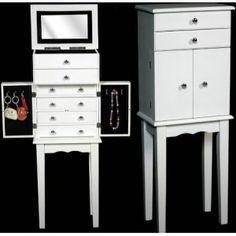 Mueble joyero blanco